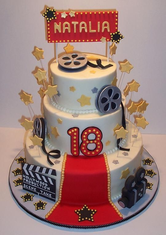 hollywood themed birthday cake design ; 2a7b47153dca776de7e035df9ca27dd7--hollywood-cake-hollywood-theme