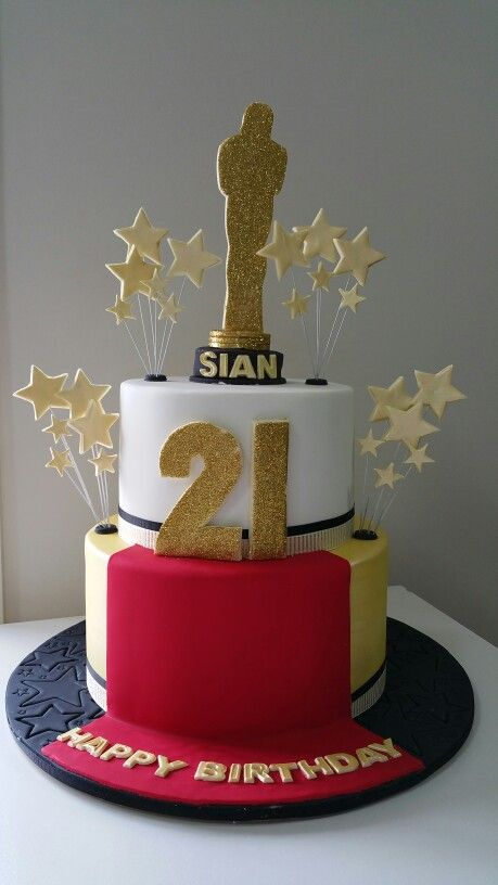 hollywood themed birthday cake design ; 43d34763a2bc23608f2591633a1cebaf--hollywood-theme-st-birthday