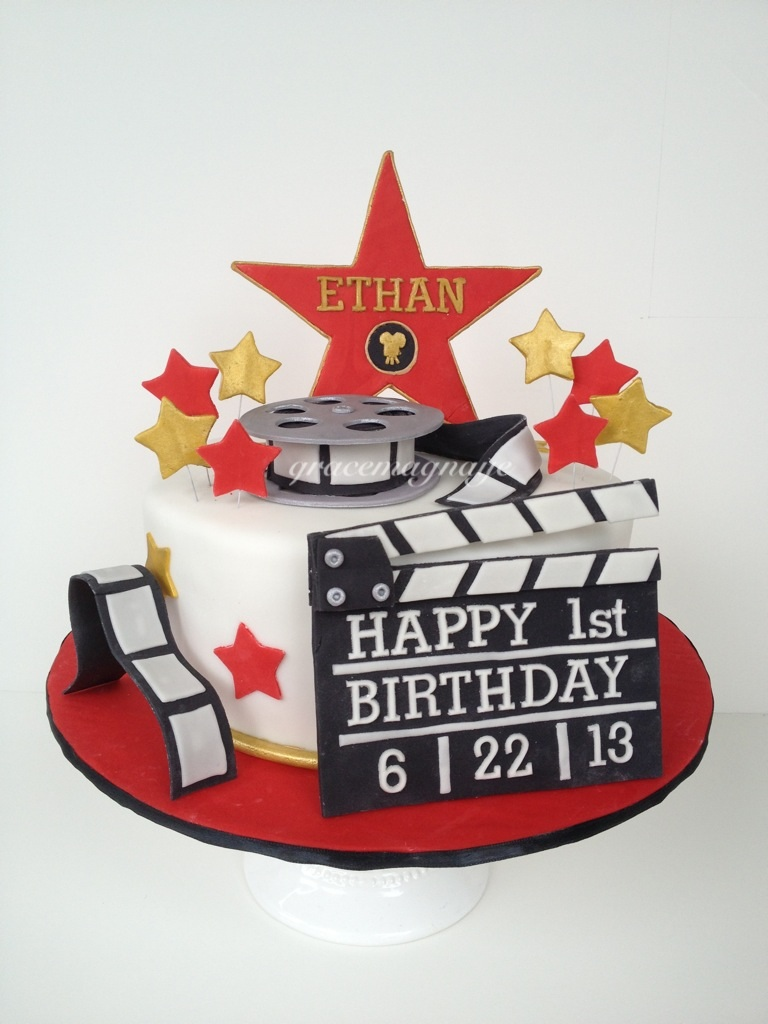 hollywood themed birthday cake design ; 6e3a7cb86a6d5aae7668173328d819c2