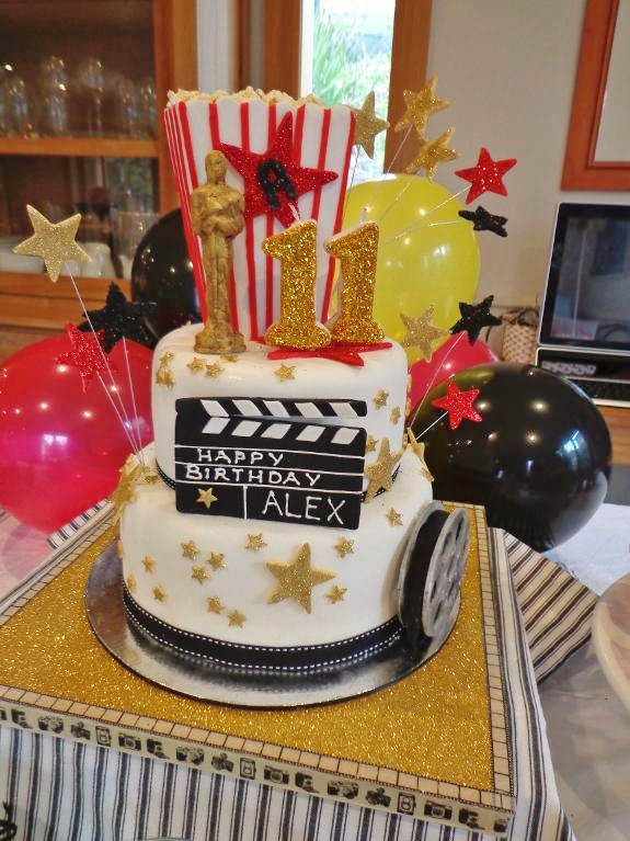 hollywood themed birthday cake design ; 75