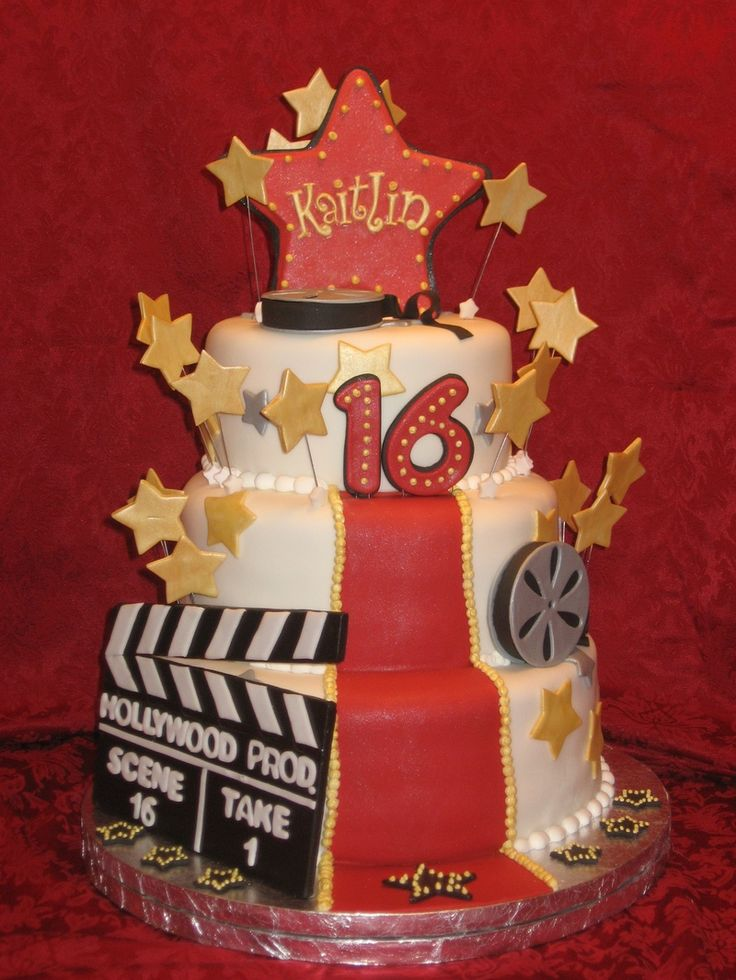 hollywood themed birthday cake design ; 9588c6b30dde618c4c02ef5587904bde--hollywood-theme-hollywood-glamour