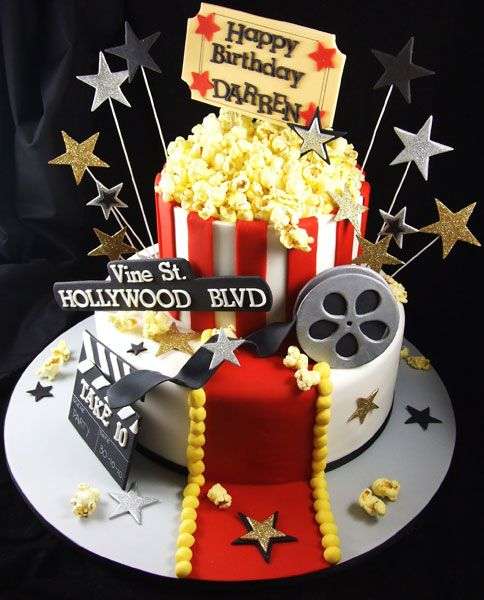 hollywood themed birthday cake design ; b0a4d398a7d9161b1abe67f8231e4df6