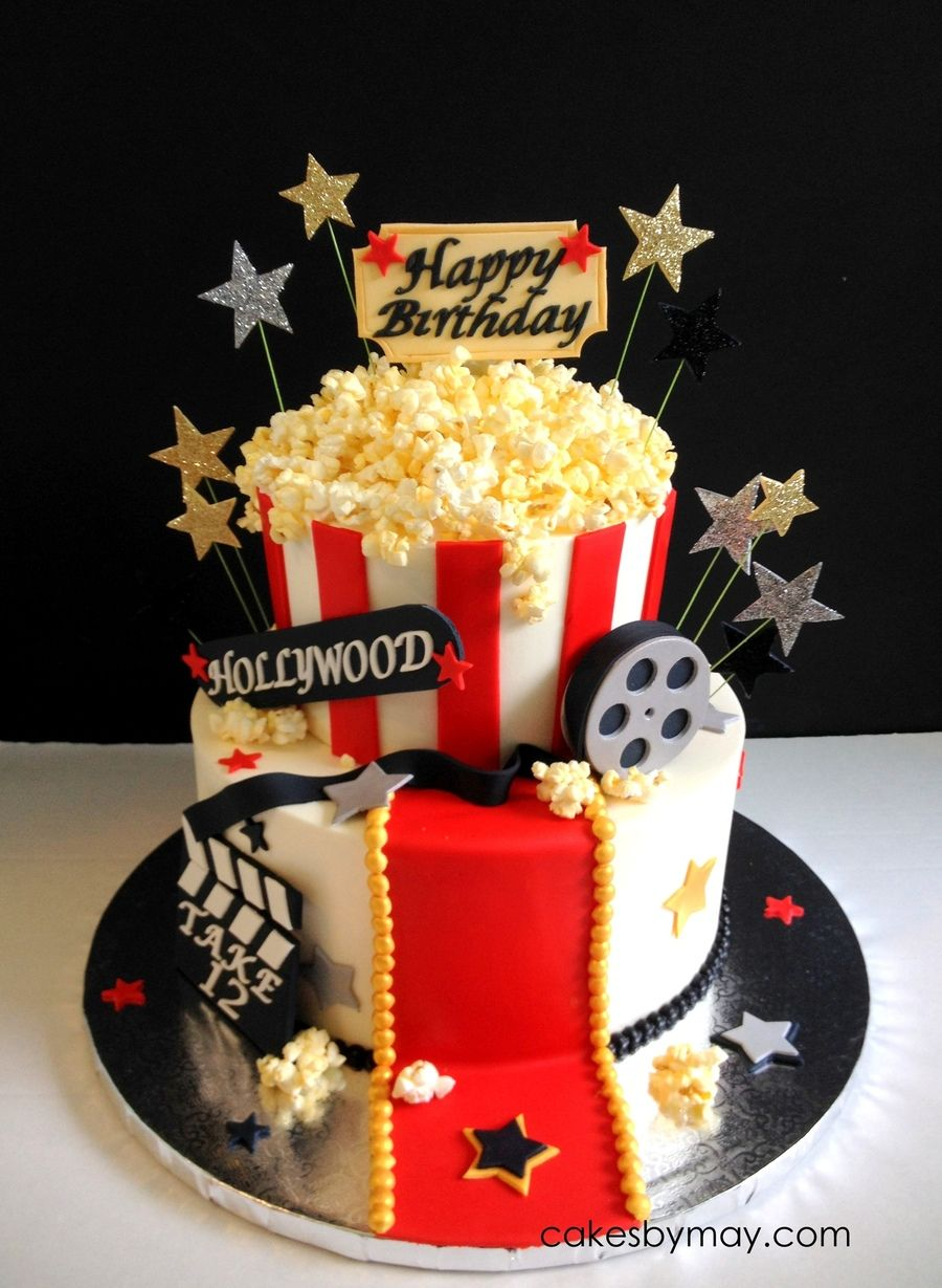 hollywood themed birthday cake design ; c361ecfa20728ccc68576a693a8d1844