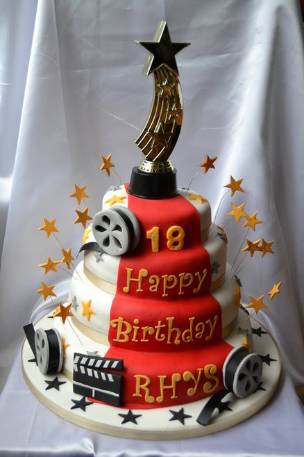 hollywood themed birthday cake design ; e18ab5c317392bc08b03c6b4e0a3c968