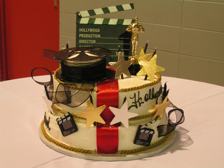 hollywood themed birthday cake design ; e6f84b2d4ea516b83a67940c797fd5db