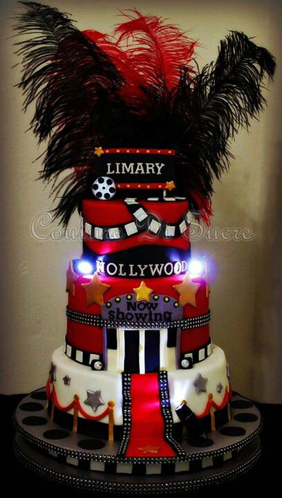hollywood themed birthday cake design ; ebee9b22cea2a755a877d38ae1bfd663