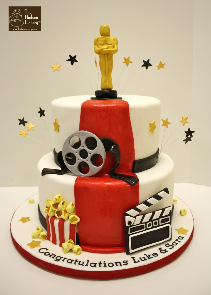 hollywood themed birthday cake design ; hollywood-graduation-cake-733x1024
