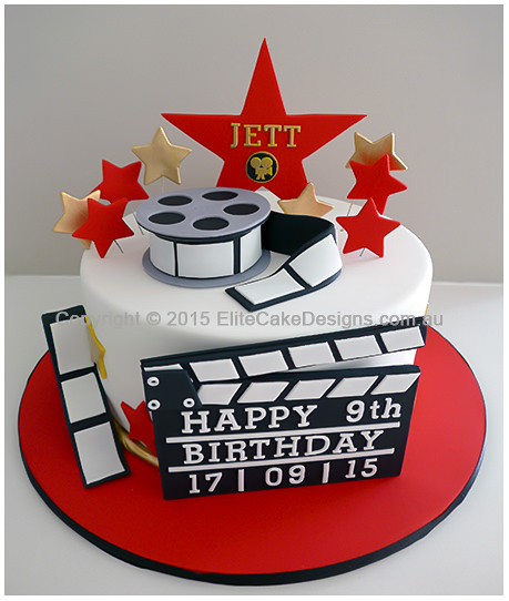 hollywood themed birthday cake design ; hollywood-movie-theme-cake