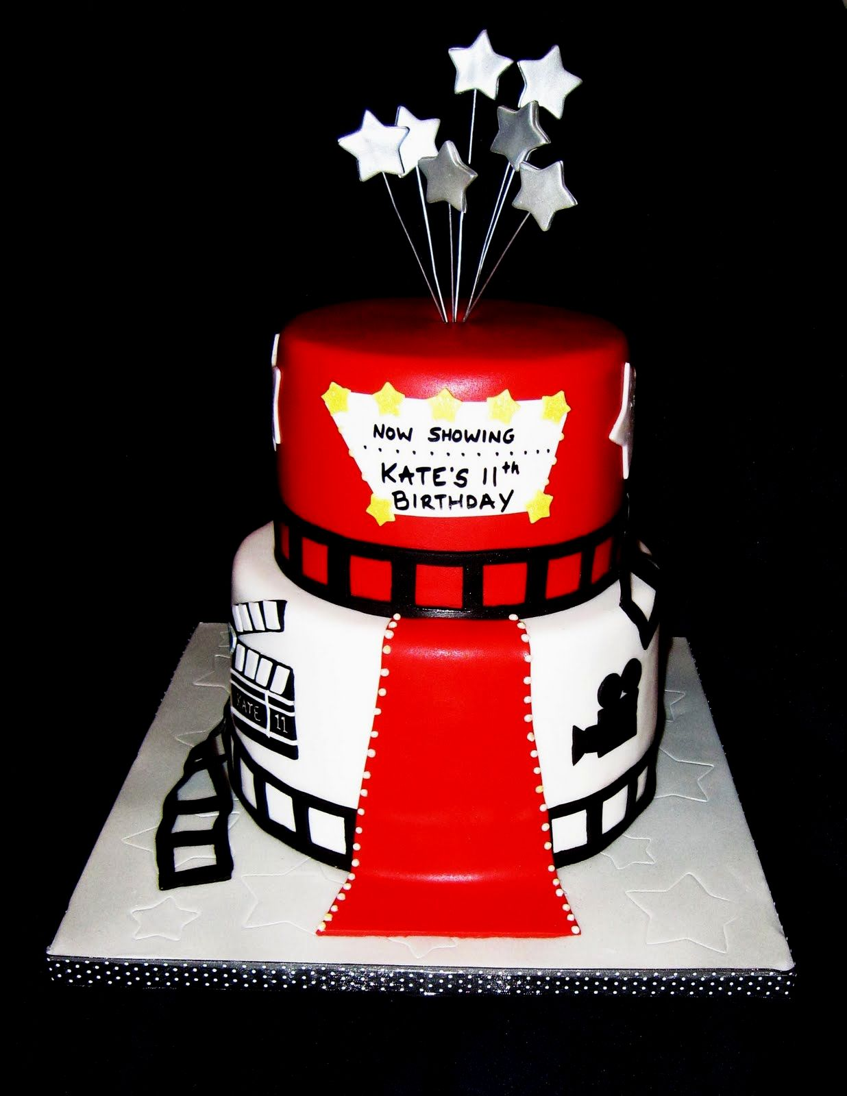 hollywood themed birthday cake design ; hollywood-themed-birthday-cake-design-hollywood-theme-cake-design