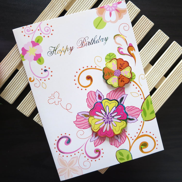 images of handmade greeting cards for birthday ; Three-dimensional-handmade-birthday-card-birthday-greeting-card-birthday-gift-card-g660