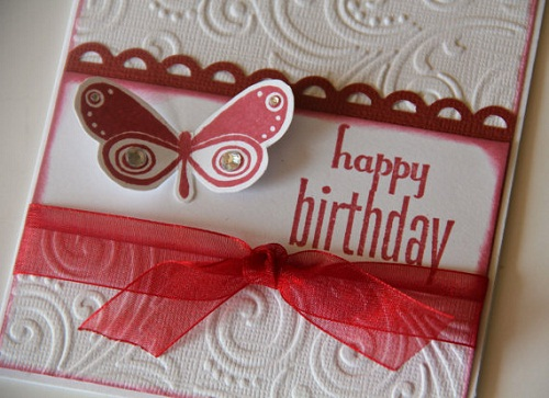 images of handmade greeting cards for birthday ; red-birthday-handmade-greeting-cards