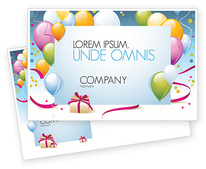 indesign birthday card template ; postcard_template_b