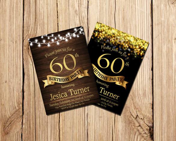 indesign birthday invitation template ; 60-th-Birthday-Invitation-for-Adults