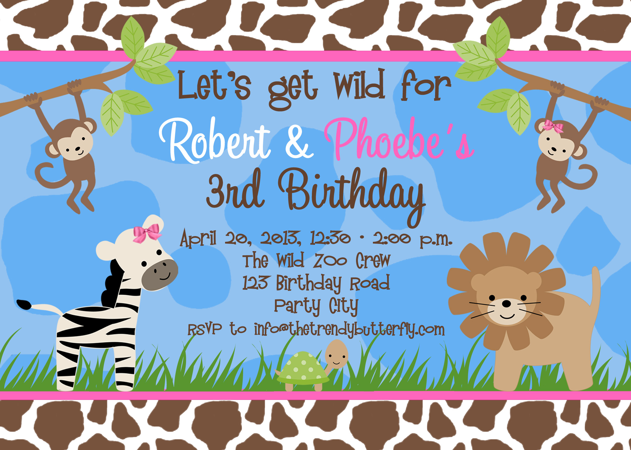 jungle theme birthday invitation template ; Animal-Birthday-Invitations-for-a-awesome-birthday-Invitation-design-with-awesome-layout-1