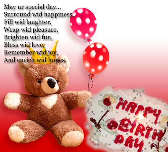 kid birthday greeting card messages ; 307341