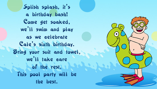 kids birthday invitation quotes ; swimming-party-birthday-invite-card