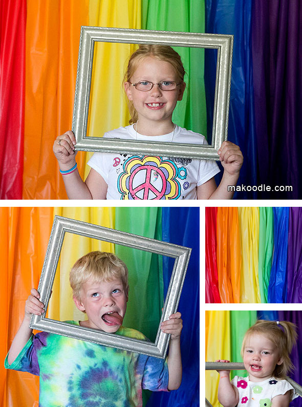 kids birthday party photo booth ; Rainbow-Photo-Booth