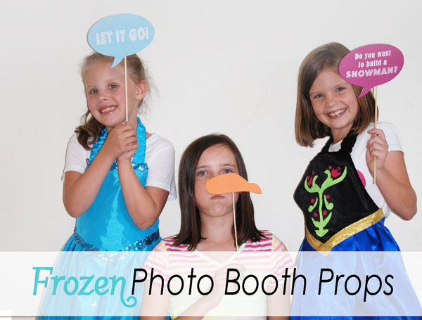 kids birthday party photo booth ; frozen-photo-booth-props-wide