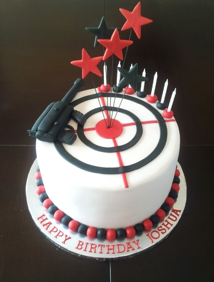 laser tag birthday cake designs ; charming-inspiration-target-birthday-cakes-and-beautiful-laser-tag-themed-boys-birthday-cake-delicious