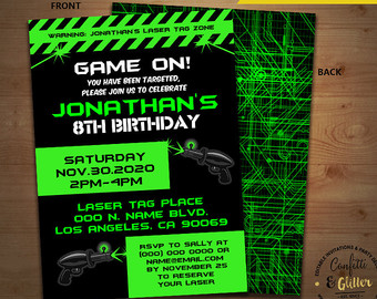 laser tag birthday invitation ideas ; il_340x270