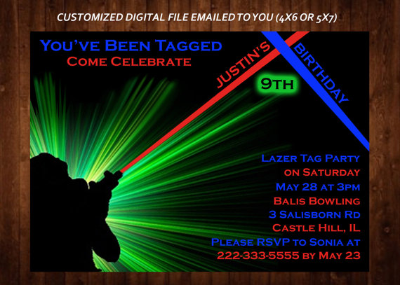 laser tag birthday invitation ideas ; il_570xN