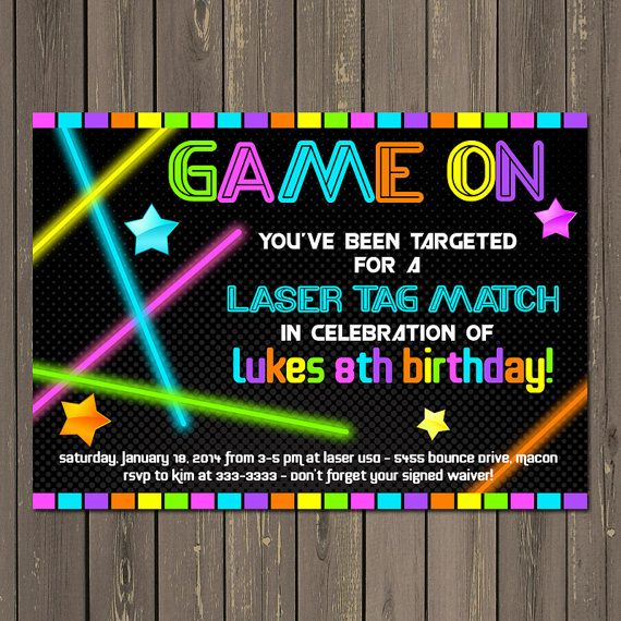 laser tag birthday invitation ideas ; laser-tag-birthday-party-invitations-best-25-laser-tag-birthday-ideas-on-pinterest-laser-tag-party-template