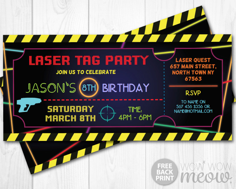 laser tag birthday invitations free printable ; laser-tag-invitations-ticket-birthday-party-lets-glow-laser-quest-invitations