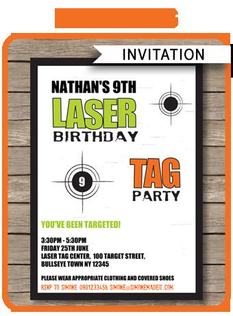 laser tag birthday party invitation template ; 21ecd59515225f4f21f541db0762b81d