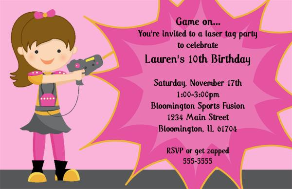 laser tag birthday party invitation template ; 7044lcopy