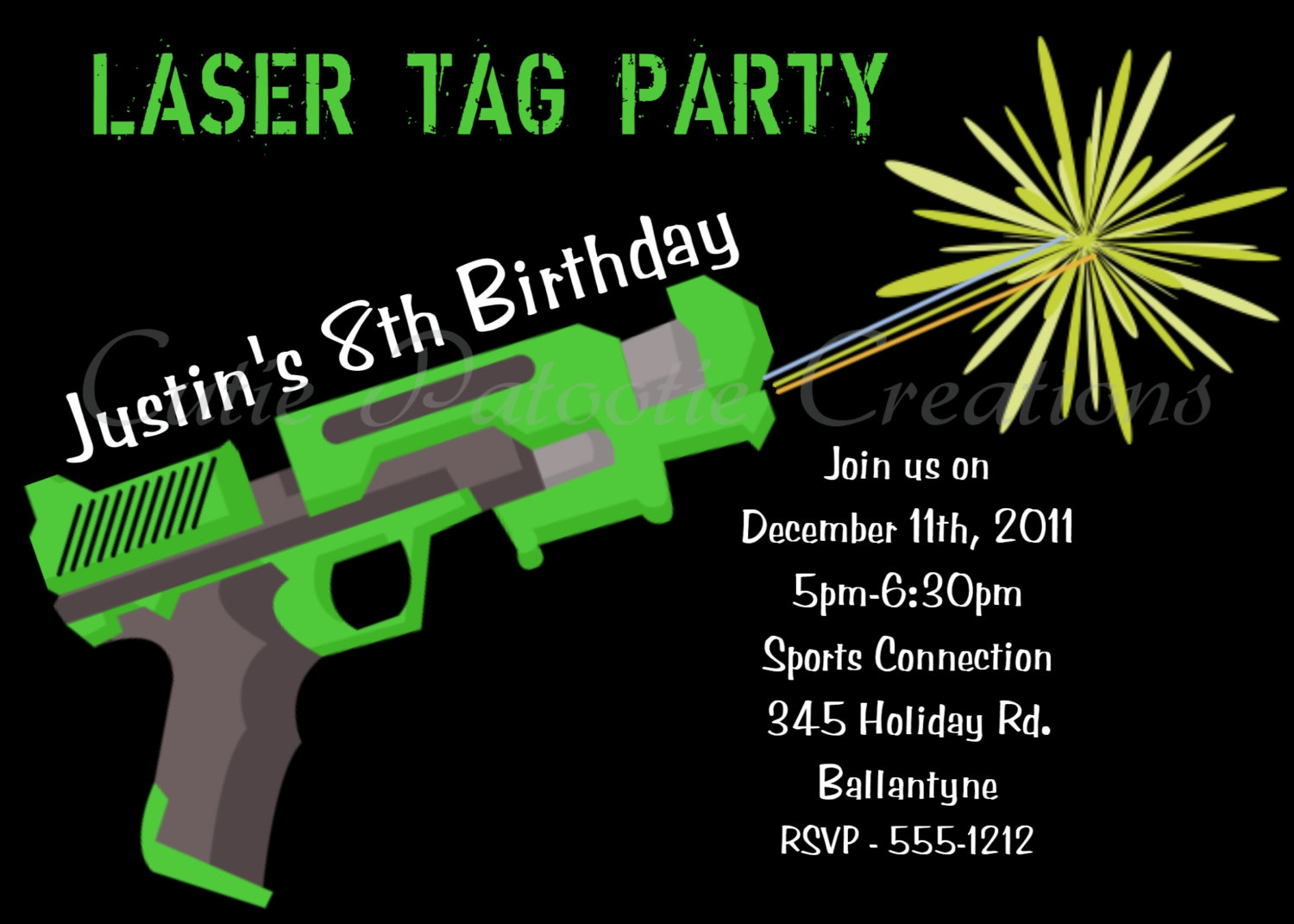 laser tag birthday party invitation template ; Brilliant-Laser-Tag-Birthday-Invitations-To-Design-Birthday-Invitation-Templates