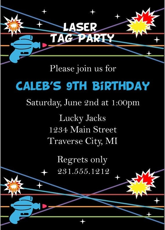 laser tag birthday party invitation template ; laser-tag-birthday-invitations-hollowwoodmusic-regarding-laser-tag-invitations-template