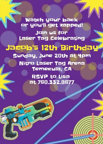 laser tag birthday party invitation template ; laser-tag-birthday-party-invitations-laser-tag-birthday-party-invitations-candles-and-favors-template