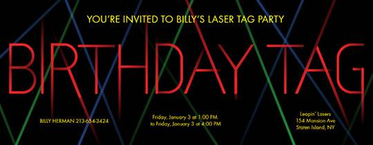 laser tag birthday party invitation template ; thumb_slider