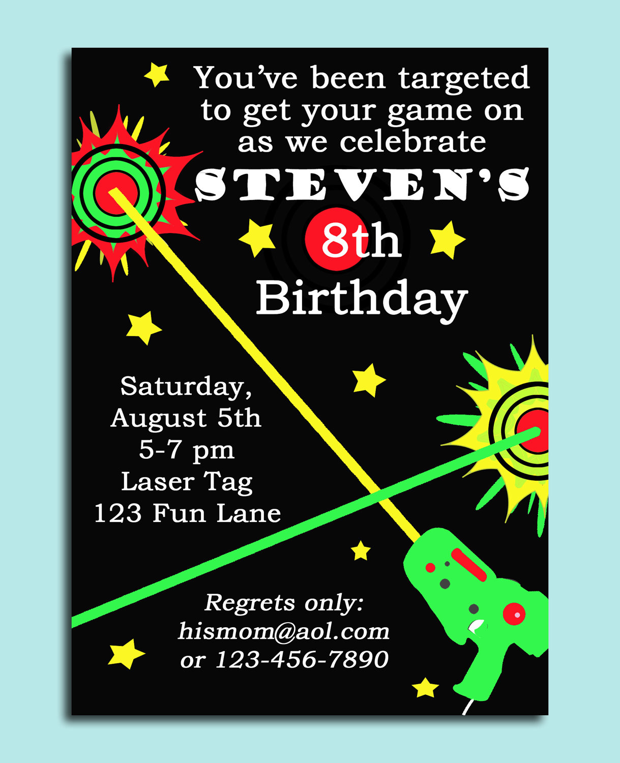 laser tag birthday party invitation template free ; 40th_birthday_ideas__free_laser_tag_birthday_invitation_templates_3