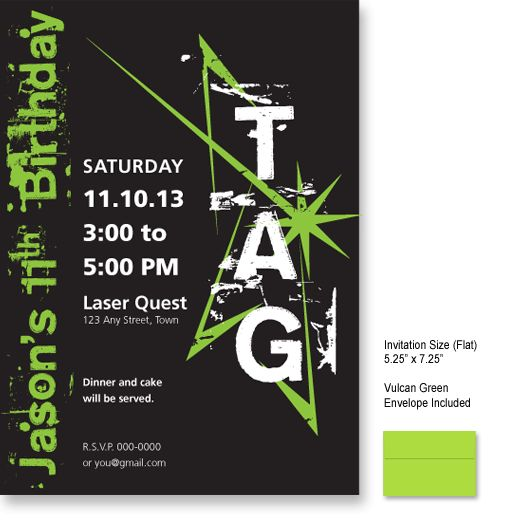 laser tag birthday party invitation template free ; f1ac38353915d02580cd91382d19f224
