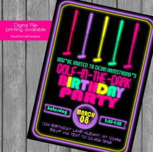 laser tag birthday party invitations ; girl-glow-in-the-dark-mini-golf-birthday-party-invitation-can-laser-tag-birthday-invitation-303x300