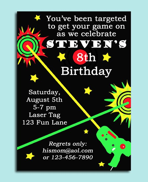 laser tag birthday party invitations ; laser-tag-party-invitations-best-25-laser-tag-birthday-ideas-on-pinterest-laser-tag-party-1