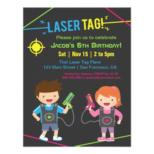 laser tag birthday party invitations ; laser_tag_kids_birthday_party_invitations-ra3cdadbd00a24ddf80e034ec6189d975_zk91q_530