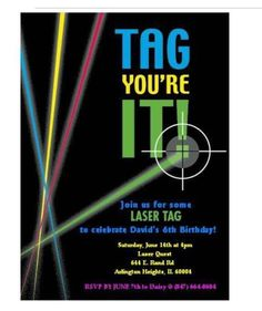 laser tag birthday party invitations free ; eb40c684d26e47aaf69eed8f1e6ed2ef--laser-tag-party-th-birthday