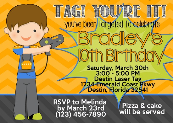 laser tag birthday party invitations free ; laser-tag-X-birthday-party-invitations