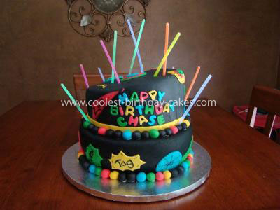 laser tag themed birthday cake ; coolest-laser-tag-birthday-cake-3-21528843