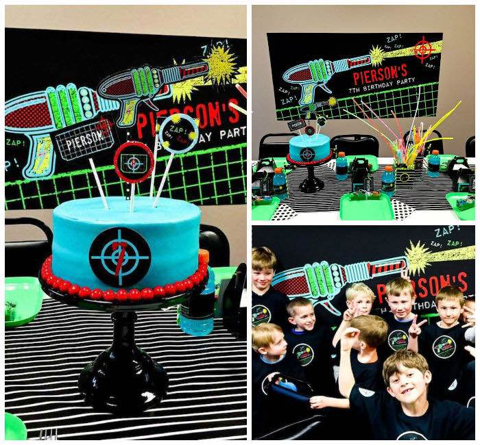 laser tag themed birthday party ; Laser-Tag-Birthday-Party-via-Karas-Party-Ideas-KarasPartyIdeas