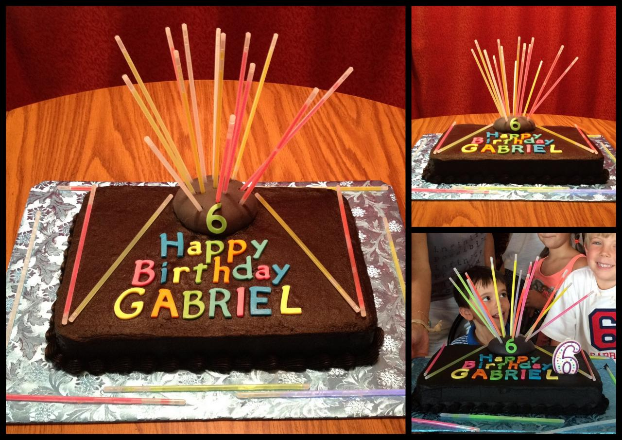 laser tag themed birthday party ; Laser_Tag_Cake