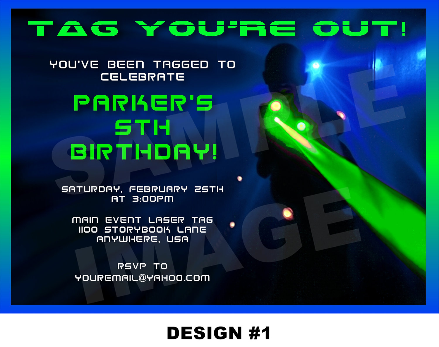 laser tag themed birthday party ; il_fullxfull