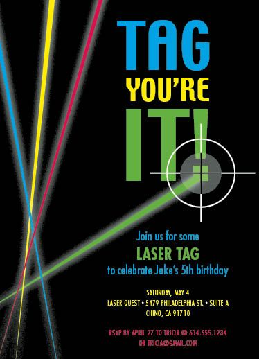 laser tag themed birthday party ; laser-tag-birthday-invitations-For-unique-model-Birthday-idea-2