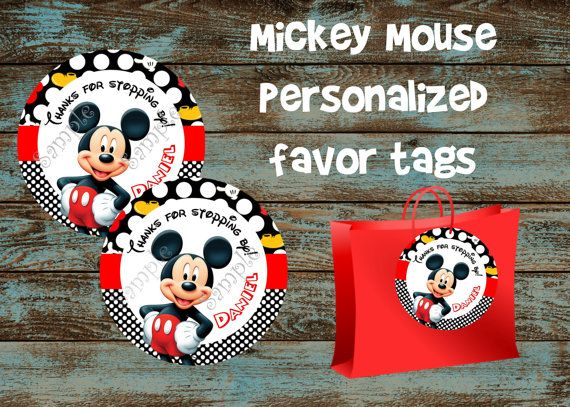 mickey mouse birthday gift tags printable ; 60a0a38204cc654c297cccc91ae121ac--mickey-mouse-favors-personalized-tags