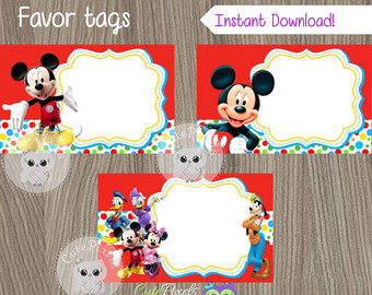 mickey mouse birthday gift tags printable ; il_340x270