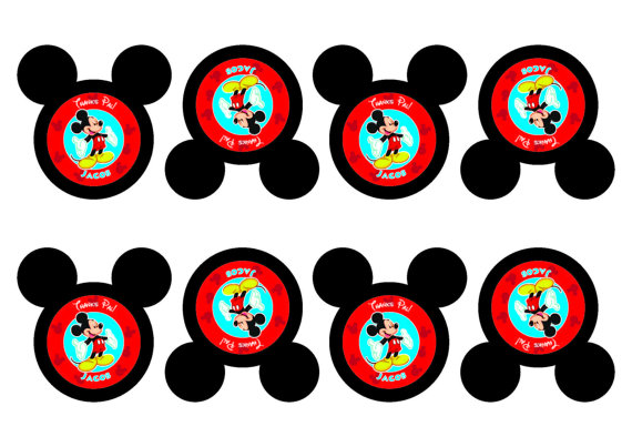 mickey mouse birthday gift tags printable ; il_570xN