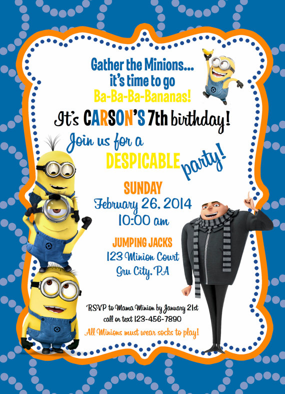 minion themed birthday invitation template ; 79285a78cfd2728ee7c8eda7a67214d1