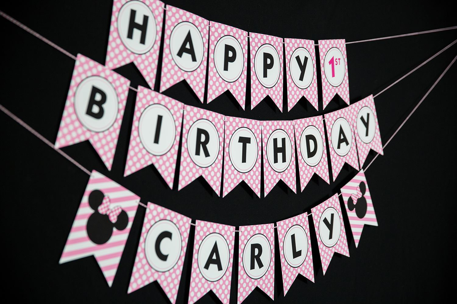 minnie mouse birthday sign printable ; Banner-1